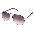 CARSHIRO KS8654-C20 Resin Lens Zinc Alloy + PC Frame UV Protection Sunglasses Goggles - Golden