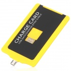 USB Male to Micro USB Male Charging & Sync Card for Samsung / HTC / LG + More- Yellow + Black (60cm)
