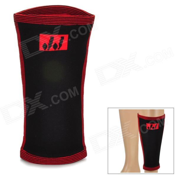 Flexible Nylon + Spandex Leg Protection Band - Black + Red