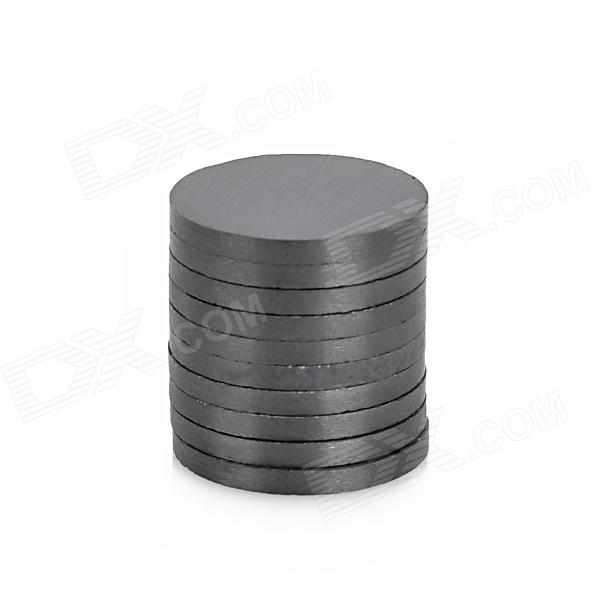 Round Shaped Ferrite Magnet for Electronic DIY - Black (16 x 1.5mm / 10 PCS)