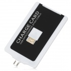 V8 Card Style USB to Micro USB Data/Charging Cable for Samsung / HTC / Nokia / Sony - White + Black
