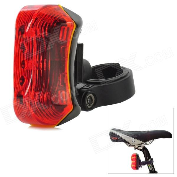 FL-501 Bicycle 3W 2-Mode 3-LED Red Light Tail Lamp - Red + Black (2 x AAA) ufo style 6 led 7 mode red light warning tail lamp for bicycle red green 2 x aaa