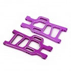 HSP 108021 Aluminum Alloy Rear Lower Suspension Arms for 1:10 Scale RC Cars - Purple (2 PCS)