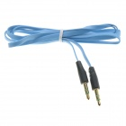 3.5mm TRS Male to Male Flat Audio Connection Cable - Blue (100cm)