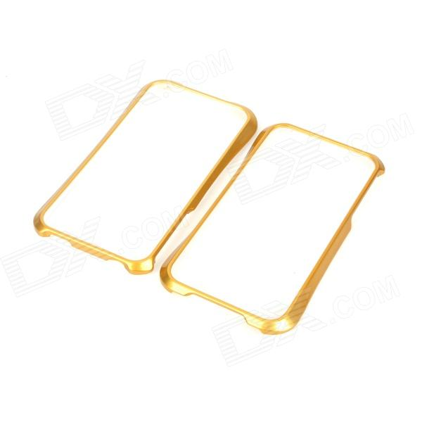 NEWTOP Protective Plastic Bumper Frame for Iphone 4 / 4S - Gold + White стоимость