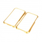NEWTOP Protective Plastic Bumper Frame for Iphone 4 / 4S - Gold + White