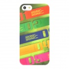 KAMOL Strips Pattern Protective Plastic Case for Iphone 5 - Multi-Colored