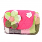 Flower Style Cotton Change Purse for Women - Multicolored