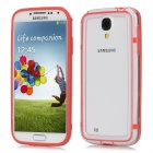 Protective ABS Bumper Frame for Samsung Galaxy S4 i9500 - Red + Translucent White