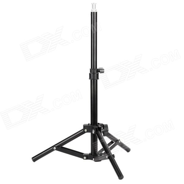 Portable 2-Fold Folding Photo Studio Tripod Light Stand - Black