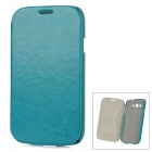 KALAIDENG Protective PU Leather Case for Samsung Galaxy Grand Duos i9082 - Blue Green