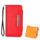 KALAIDENG Protective PU Leather Case for HTC M7 - Red