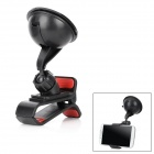 Car Cigarette Powered Charger w Car Mount Bracket for Samsung Galaxy S4 i9500 - Black
