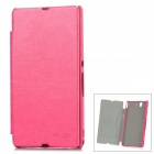 KALAIDENG Protective PU Ledertasche für Sony Xperia Z L36h / L36i - Deep Pink
