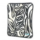 "JJ105 Lion Pattern Protective Padded Diving Cloth Pouch for Ipad 9.7"" - Black + Beige"