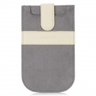 "USAMS 5"" Protective PU Leather Sleeve Case for Samsung i9500 / HTC One - Deep Grey + Beige"