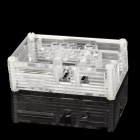 Protective 9-Layer Acrylic Case Enclosure Computer Box for Raspberry Pi - Transparent + White