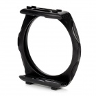 77mm Filter Adapter Ring Mount w/ Square Shape Filter Bracket for DSLR - Black