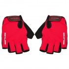 GUB FS1094 Half-Finger Anti-Slip Bicycle Gloves - Red + Black (Pair)