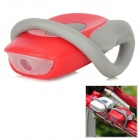 CoolChange Bicycle 2-Mode Red Tail Light - Red + Grey (2 x CR2025)
