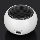 Universal Mini Media Player Speaker w/ 3.5mm Audio Plug - White + Black