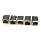 HanRun HR911105A DIY RJ45 Network Adapters w/ Indicator Light - Silver + Black (5 PCS)