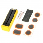 Portable Bicycle Tire Repair Kit - Yellow + Black