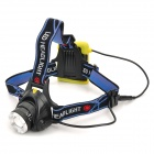 YP-3055 Cree XM-L T6 400lm 3-Mode White Zooming Headlamp - Black + Yellow (4 x AA)