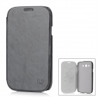 USAMS I9082BL01 Protective PU Leather Flip-Open Case for Samsung Galaxy Grand DUOS / i9082 - Black