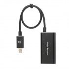 CY MH-023 MHL Micro USB to HDMI HDTV Adapter for Samsung Galaxy S3 / i9300 / 9308 - Black (25cm)
