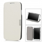Protective Flip-Open PU Case for Samsung Galaxy S4 i9500 - White + Black
