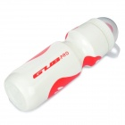 GUB PRO Bicycle PE Nozzle Type Water Bottle - Red + White (650mL)