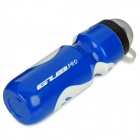 GUB PRO Bicycle PE Nozzle Type Water Bottle - Blue + White (650mL)