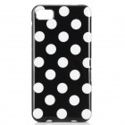 Polka Dot Style Protective Back Case for BlackBerry Z10 - Black + White