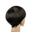 Fashion Classic Men's Short Silly Straight Hair Wig - Black