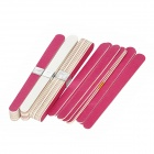 1011 Professional Mini Grit Nail Files Manicure Tool - Red + White (40PCS)