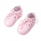 Lovely PU Leather Shoes for Girl Baby 6~9 Months - Pink
