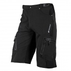 NUCKILY NS357 Outdoor Cycling Man's Quick Dry Nylon + Elastic Fiber Short Pants - Black (Size L)