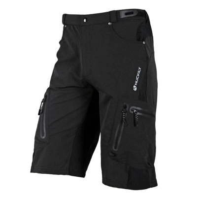NUCKILY NS357 Outdoor Cycling Man's Quick Dry Nylon + Elastic Fiber Short Pants - Black (Size XL)