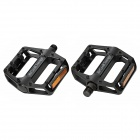 KuGai JT007 Replacement Aluminum Alloy Bicycle Pedal - Black (Pair)