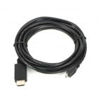 CY MH-007-3.0M Micro USB MHL to HDMI Cable for Samsung Galaxy i9100 / i997 / i9220 - Black (3m)