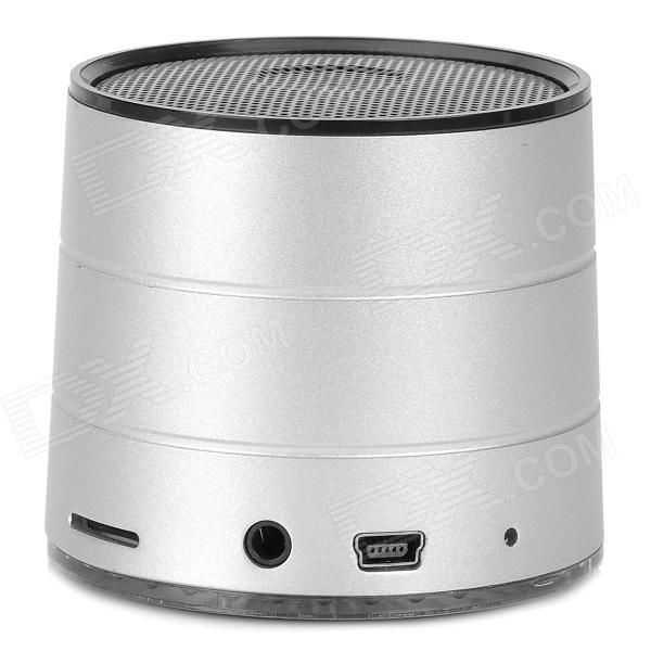 A1022 Bluetooth v2.1 Stereo Speaker w / TF / FM / Mikrofon / Hands-Free - Silver White + Black