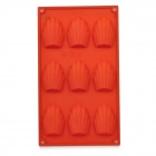Shell Shape 9-Cup Cake Maker DIY Silicone Mold Tray - Red