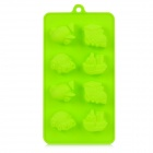 Vehicle / Ship Shape 8-Cup Cake Maker DIY Silicone Mold Tray - Grass Green