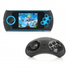 YSDX-638 2.8'' LCD Portable 16Bit SEGA Game Video Game Player w/ Wireless Controller - Blue + Black