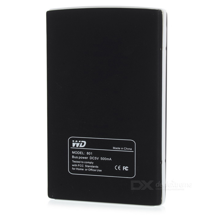 "801 Portable USB 3.0 High Speed Anti Shock 2.5"" SATA HDD External Enclosure - Black + White"