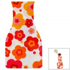 Creative Flower Pattern Foldable PVC Vase - White + Red + Yellow + Orange (Size L)