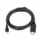 CY MH-007-1.5M Micro USB MHL to HDMI Cable for Samsung Galaxy i9100 / i997 / i9220 - Black (1.5m)