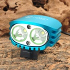 UltraFire D-50 2 x Cree XM-L T6 580lm 4-Mode White Bicycle Light Headlamp - Blue (4 x 18650)