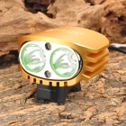 UltraFire D-50 2 x Cree XM-L T6 580lm 4-Mode White Bicycle Light Headlamp - Golden (4 x 18650)